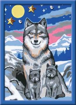 27784 Malen nach Zahlen Süße Wolfsfamilie von Ravensburger 2
