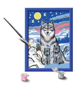 27784 Malen nach Zahlen Süße Wolfsfamilie von Ravensburger 3