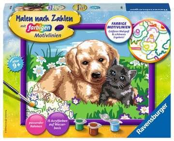 27789 Malen nach Zahlen Hund und Katze von Ravensburger 1