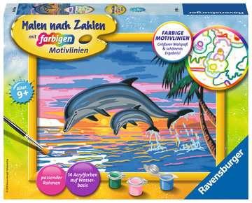 27790 Malen nach Zahlen Paradies der Delfine von Ravensburger 1