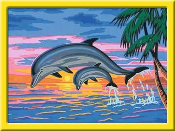 27790 Malen nach Zahlen Paradies der Delfine von Ravensburger 2