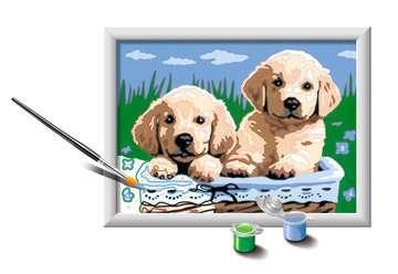 27839 Malen nach Zahlen Süße Hundewelpen von Ravensburger 3