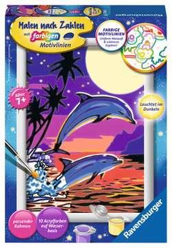 27845 Malen nach Zahlen Delfine von Ravensburger 1