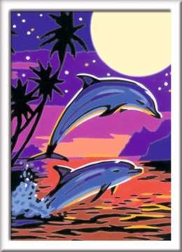 27845 Malen nach Zahlen Delfine von Ravensburger 2