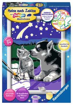 Hund und Katze Malen und Basteln;Malen nach Zahlen - Bild 1 - Ravensburger