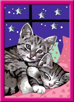 27995 Malen nach Zahlen Schlafende Katzen von Ravensburger 2