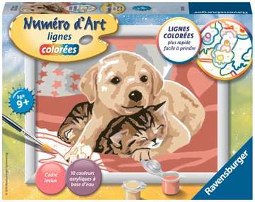 Numéro d art - petit - Comme chien et chat Loisirs créatifs;Peinture - Numéro d'Art - Image 1 - Ravensburger
