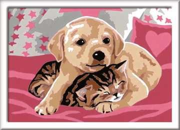Numéro d art - petit - Comme chien et chat Loisirs créatifs;Peinture - Numéro d'Art - Image 2 - Ravensburger