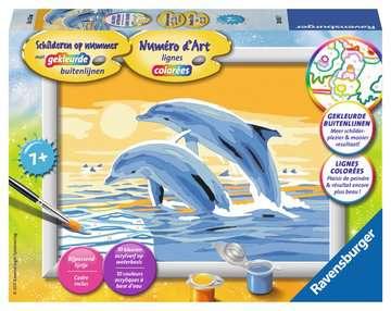 Springende dolfijn Hobby;Schilderen op nummer - image 1 - Ravensburger
