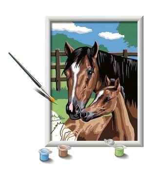 28326 Malen nach Zahlen Pferd mit Fohlen von Ravensburger 3