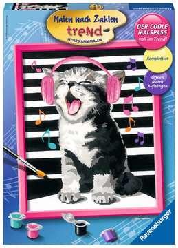28431 Malen nach Zahlen Singing Cat von Ravensburger 1