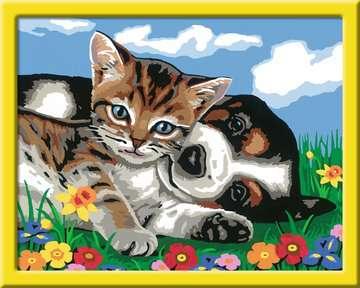 Tierfreundschaft Malen und Basteln;Malen nach Zahlen - Bild 2 - Ravensburger