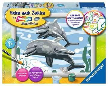 28468 Malen nach Zahlen Freundliche Delfine von Ravensburger 1