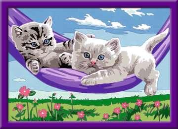 Kittens in de hangmat Hobby;Schilderen op nummer - image 2 - Ravensburger