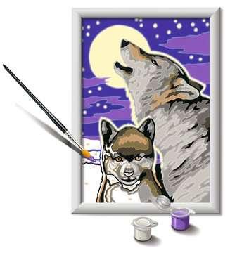 28513 Malen nach Zahlen Mystische Wölfe von Ravensburger 3