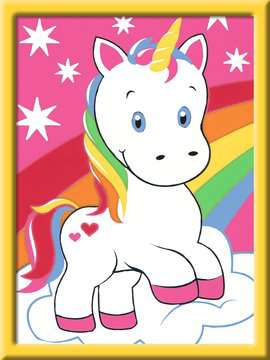 Numéro d art - mini - Adorable licorne Loisirs créatifs;Peinture - Numéro d'Art - Image 2 - Ravensburger