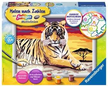 28553 Malen nach Zahlen Majestätischer Tiger von Ravensburger 1