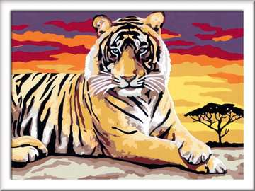 28553 Malen nach Zahlen Majestätischer Tiger von Ravensburger 2