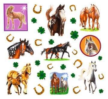 28566 Malen nach Zahlen Glückliche Pferde von Ravensburger 3