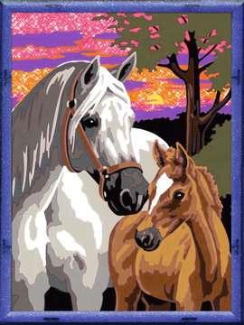 28568 Malen nach Zahlen Pferde im Sonnenuntergang von Ravensburger 2