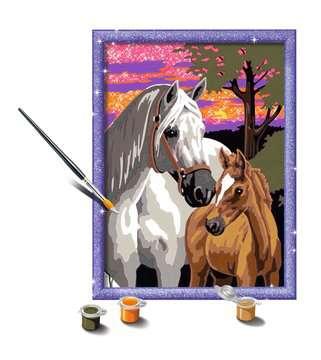 28568 Malen nach Zahlen Pferde im Sonnenuntergang von Ravensburger 3