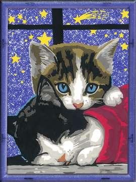 Numéro d art - moyen - Chatons dans la nuit Loisirs créatifs;Peinture - Numéro d'Art - Image 2 - Ravensburger