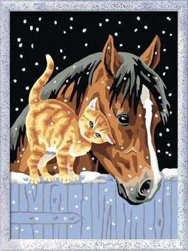 Deux amis sous la neige Loisirs créatifs;Peinture - Numéro d'Art - Image 2 - Ravensburger