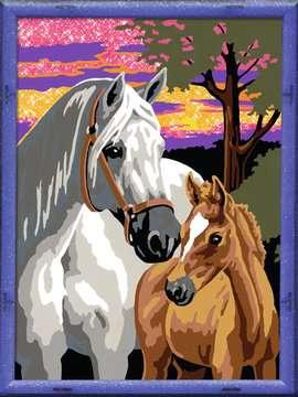Numéro d art - moyen - Chevaux au coucher de soleil Loisirs créatifs;Peinture - Numéro d'Art - Image 2 - Ravensburger