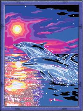 Dolfijnen in zonsondergang Hobby;Schilderen op nummer - image 2 - Ravensburger