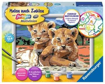Kleine Löwenbabys Malen und Basteln;Malen nach Zahlen - Bild 1 - Ravensburger