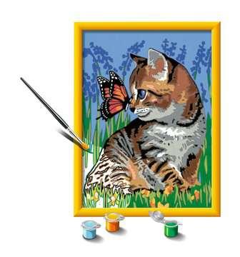 28651 Malen nach Zahlen Katze mit Schmetterling von Ravensburger 3