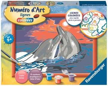Numéro d art - moyen - Romantiques dauphins Loisirs créatifs;Peinture - Numéro d'Art - Image 1 - Ravensburger