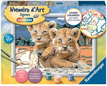 Numéro d art - moyen - Petits lionceaux Loisirs créatifs;Peinture - Numéro d'Art - Image 1 - Ravensburger