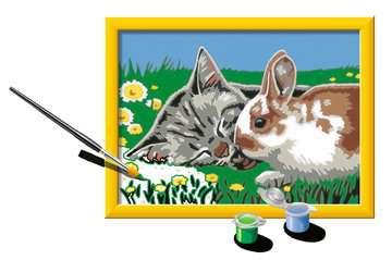 Numéro d art - petit - Chaton et son compagnon le lapin Loisirs créatifs;Peinture - Numéro d'Art - Image 3 - Ravensburger