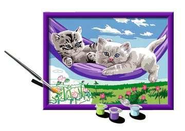 Numéro d art - moyen - Chaton dans le hamac Loisirs créatifs;Peinture - Numéro d'Art - Image 3 - Ravensburger