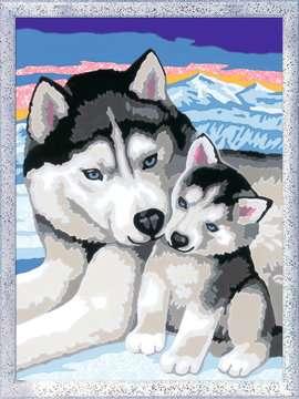 Numéro d art - moyen - Doux bisous de Husky Loisirs créatifs;Peinture - Numéro d Art - Image 2 - Ravensburger