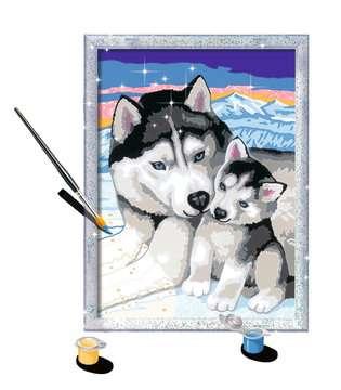 Numéro d art - moyen - Doux bisous de Husky Loisirs créatifs;Peinture - Numéro d Art - Image 3 - Ravensburger