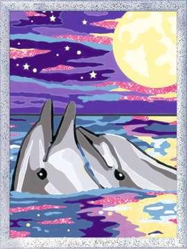 Numéro d art - moyen - Dauphins au clair de lune Loisirs créatifs;Peinture - Numéro d'Art - Image 2 - Ravensburger