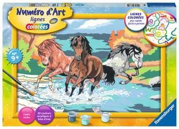 Numéro d art - grand - Horde de chevaux Loisirs créatifs;Peinture - Numéro d'Art - Image 1 - Ravensburger