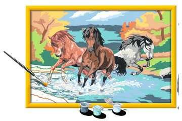 Numéro d art - grand - Horde de chevaux Loisirs créatifs;Peinture - Numéro d'Art - Image 3 - Ravensburger