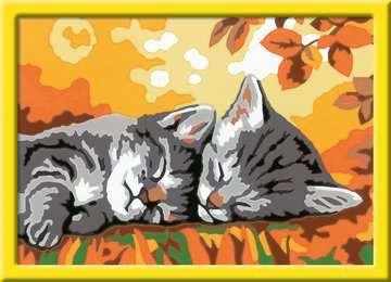 28696 Malen nach Zahlen Kätzchen im Herbst von Ravensburger 2