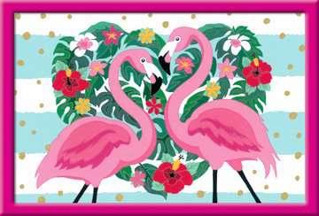 Numéro d art - grand - Flamingos amoureux Loisirs créatifs;Peinture - Numéro d Art - Image 2 - Ravensburger