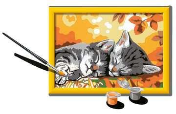 Numéro d art - petit - Deux chatons couchés Loisirs créatifs;Peinture - Numéro d Art - Image 3 - Ravensburger