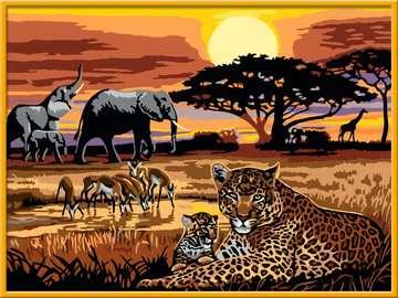 Afrikaanse impressie Hobby;Schilderen op nummer - image 3 - Ravensburger