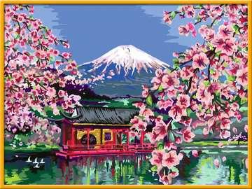 28841 Malen nach Zahlen Japanische Kirschblüte von Ravensburger 3