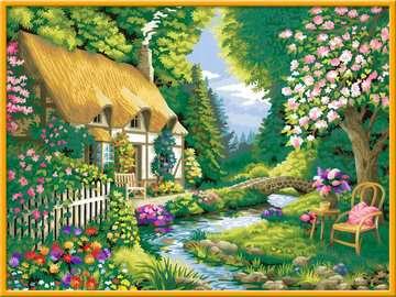 28843 Malen nach Zahlen Cottage Garden von Ravensburger 3