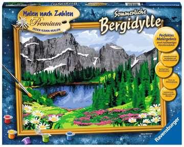 Sommerliche Bergidylle Malen und Basteln;Malen nach Zahlen - Bild 1 - Ravensburger