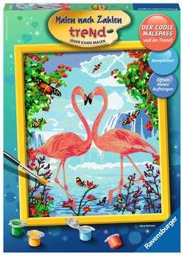 28901 Malen nach Zahlen Flamingo Love von Ravensburger 1