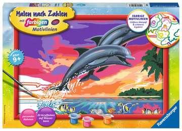 28907 Malen nach Zahlen Welt der Delfine von Ravensburger 1