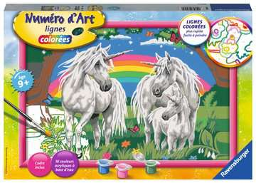 Numéro d art - grand - Au pays des licornes Loisirs créatifs;Peinture - Numéro d'Art - Image 1 - Ravensburger